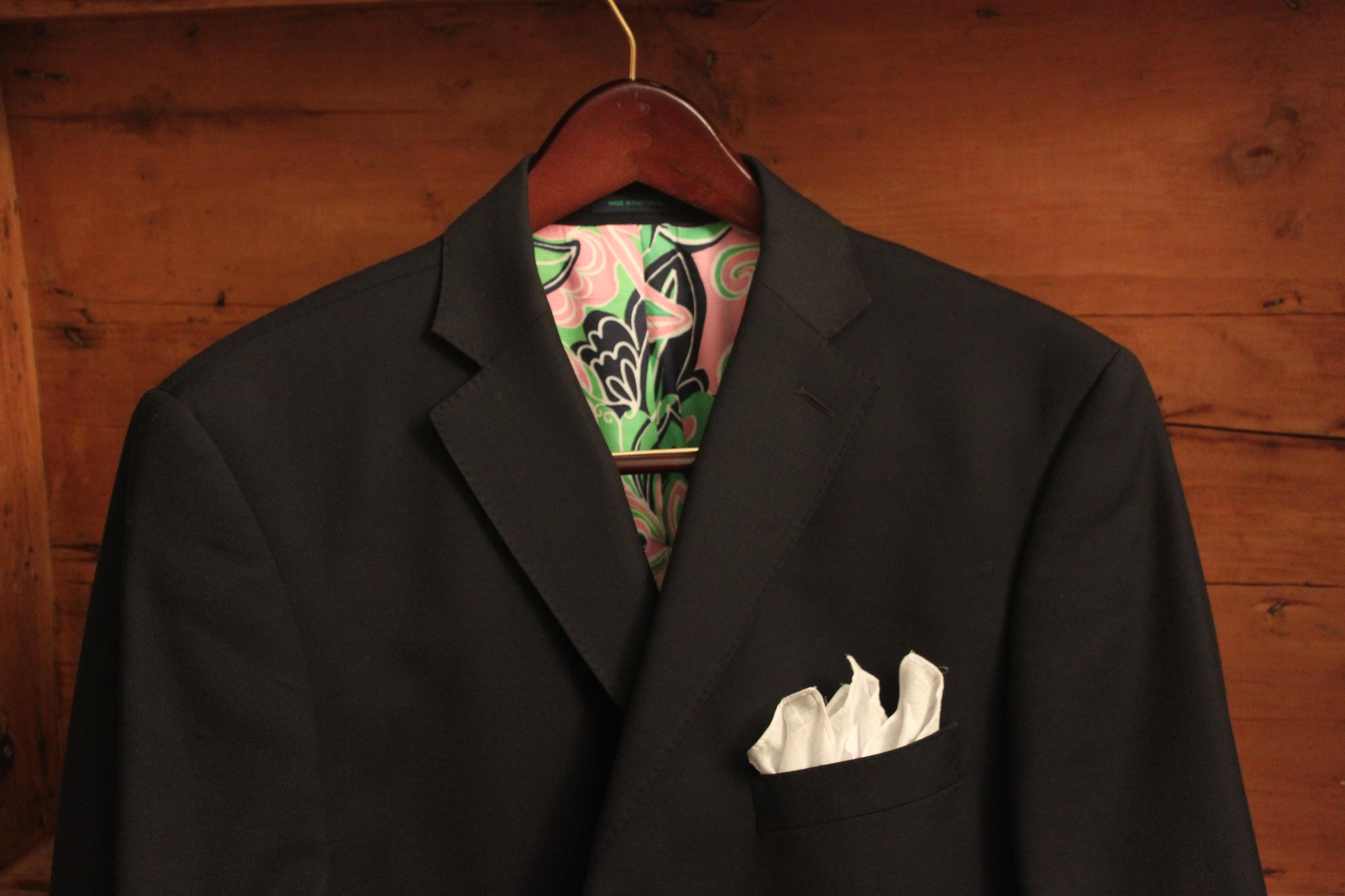 Mens jacket pocket handkerchief - Handkerchief Brooks Brothers Blazer Lilly Pulitzer